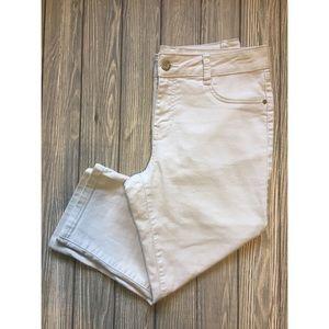d. jeans size 10 light tan capris